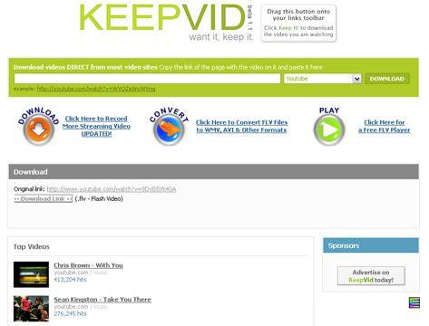 visualização de KeepVid