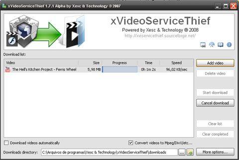 visualização de xVideo Service Thief