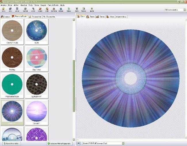 visualização de CD-DVD Label Maker
