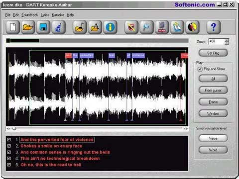 visualização de DART Karaoke Studio