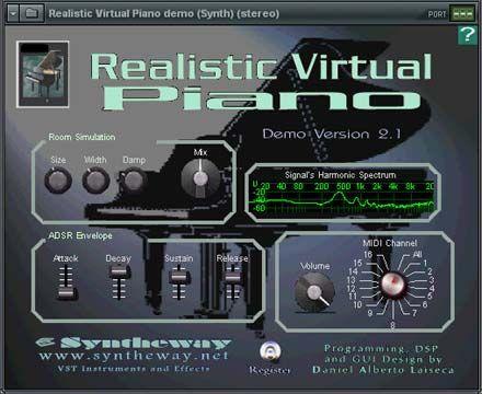 visualização de Realistic Virtual Piano