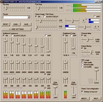 visualização de Stereo Tool