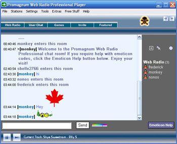 visualização de Web Radio Professional