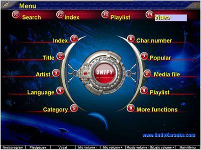visualização de Unify Karaoke Jukebox