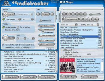 visualização de Radiotracker
