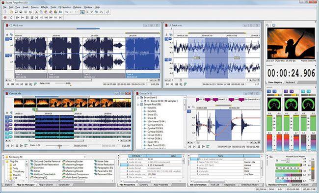 visualização de Sound Forge