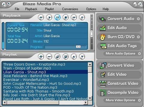 visualização de Blaze Media Pro