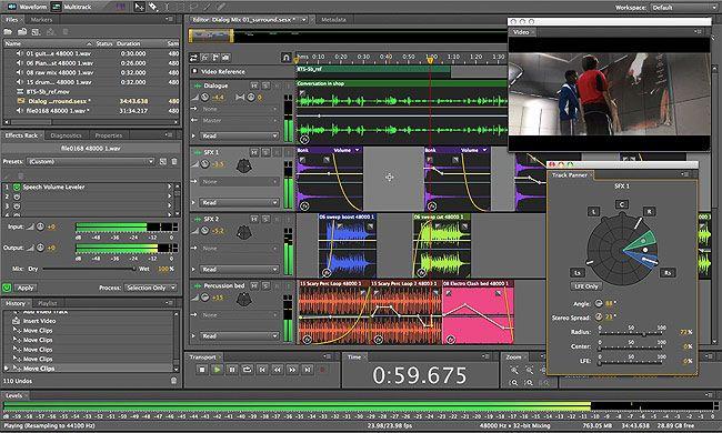 visualização de Adobe Audition