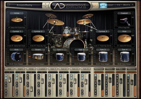 visualização de Addictive Drums