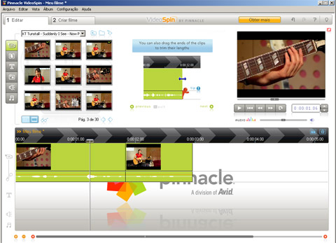 visualização de Pinnacle VideoSpin